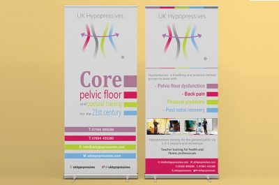 Roller banners design for UKHypopressives