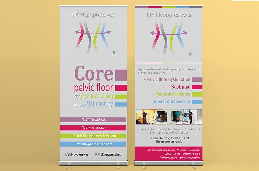 Roller banners design for UKHypopressives
