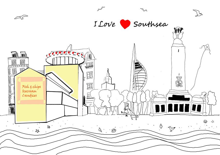 I love southsea – Illustration