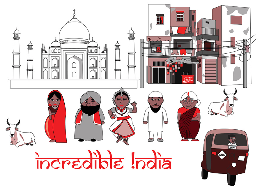 Incredible India - Illustration