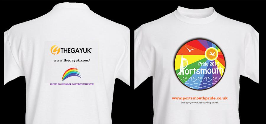 Portsmouth Pride 2015 : T-Shirt Design