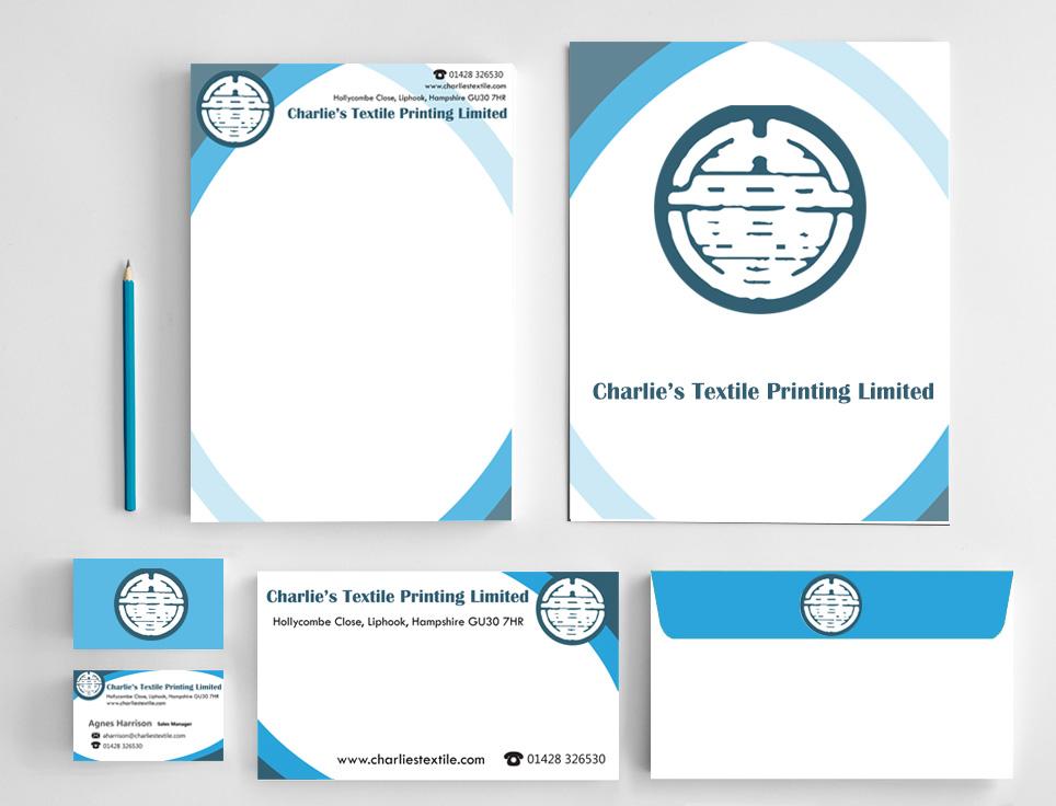 Charlie's Textile - Stationery Design