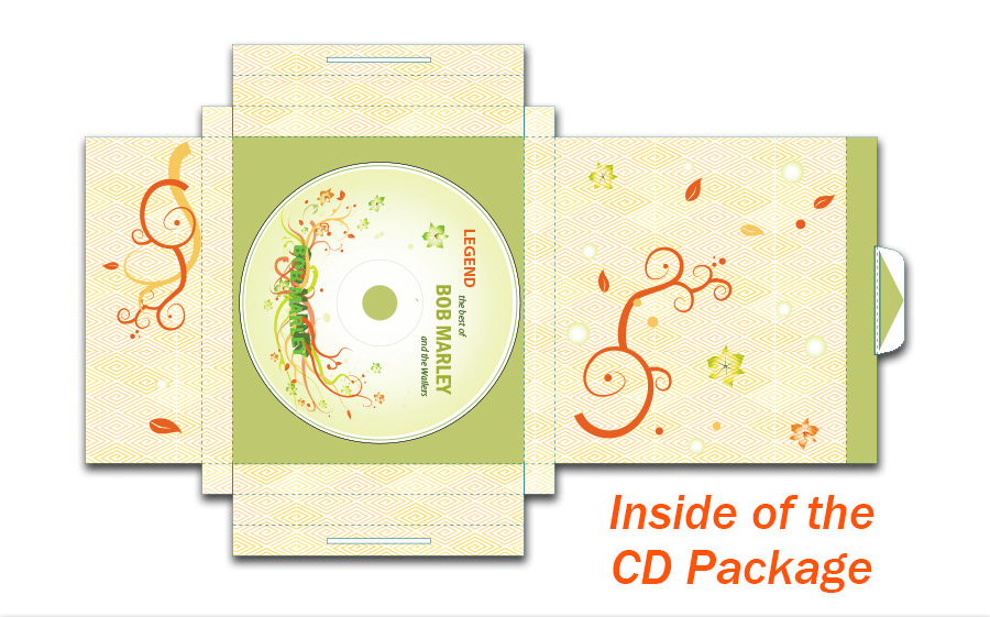 Bob Marley - CD Package Design - Inside of the Package