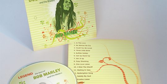 Bob Marley - CD Package Design - the Completed Product