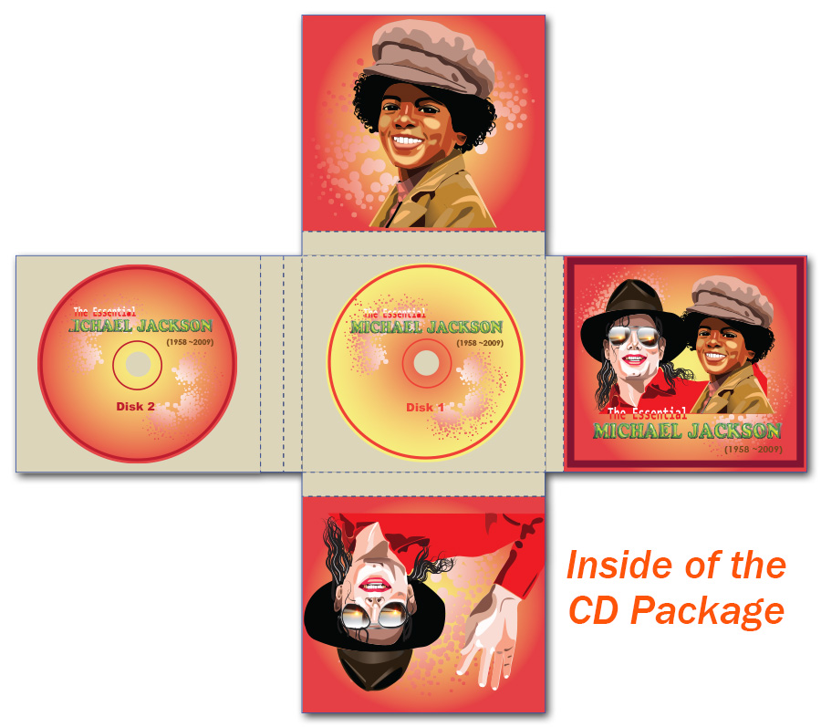 Michael Jackson Cd Package Design - Inside of the package