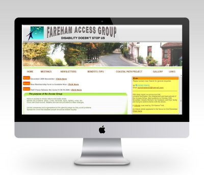 Fareham Access Group - Web Design