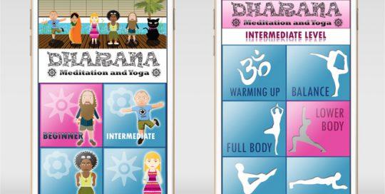 Dharana Yoga - APP UI Design