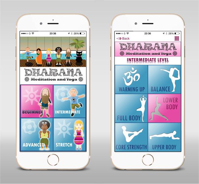 Dharana Yoga – APP UI Design