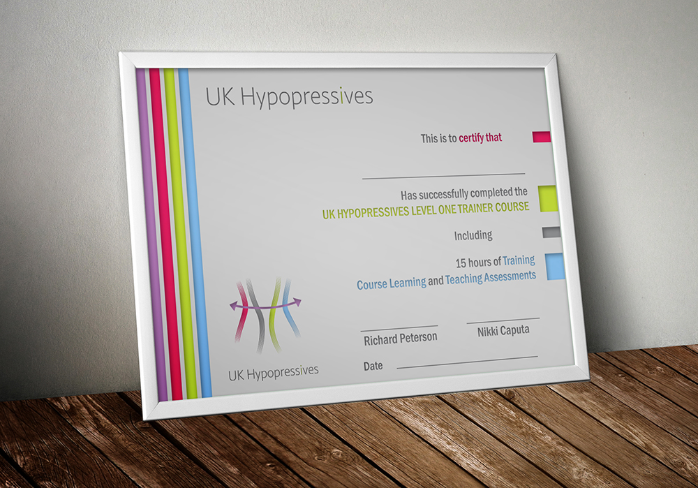 Certificate Design for UK Hypopressives