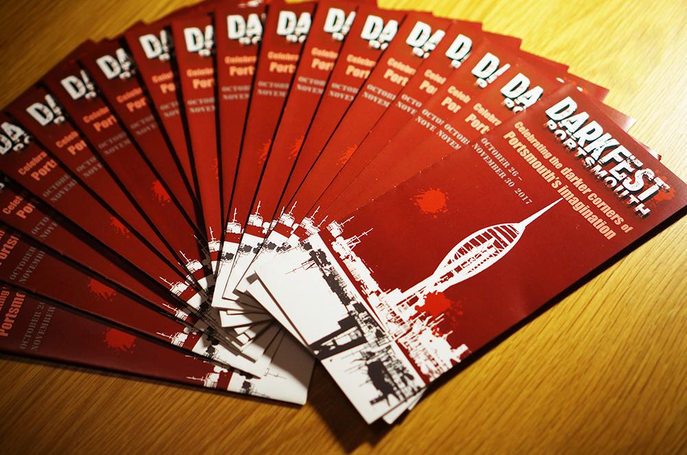 Portsmouth Dark Fest 2017 : Tri-Fold Programme/Leaflet Design