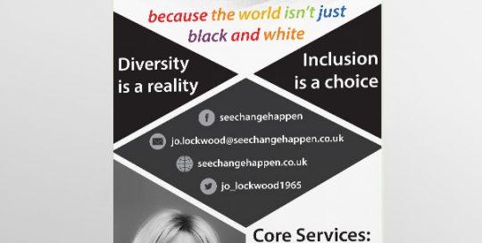 SEE CHANGE HAPPEN - Roller Banner Design