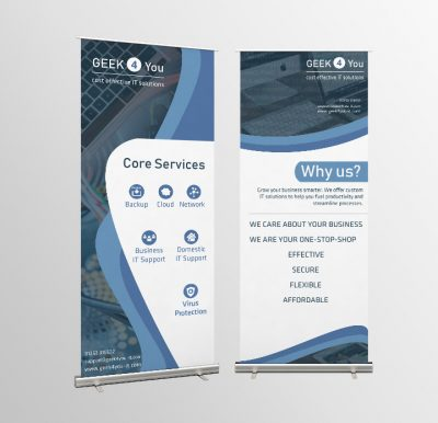 GEEK4YOU Roller-Banners