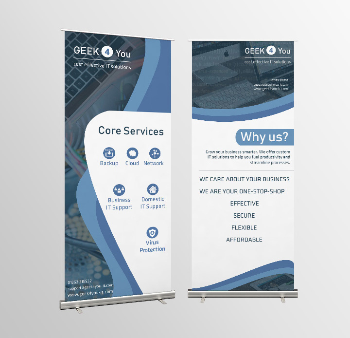 Geeks 4 You: Roller Banners Design