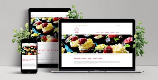 Responsive Web Design for Fresh Cream Cakes Southsea
