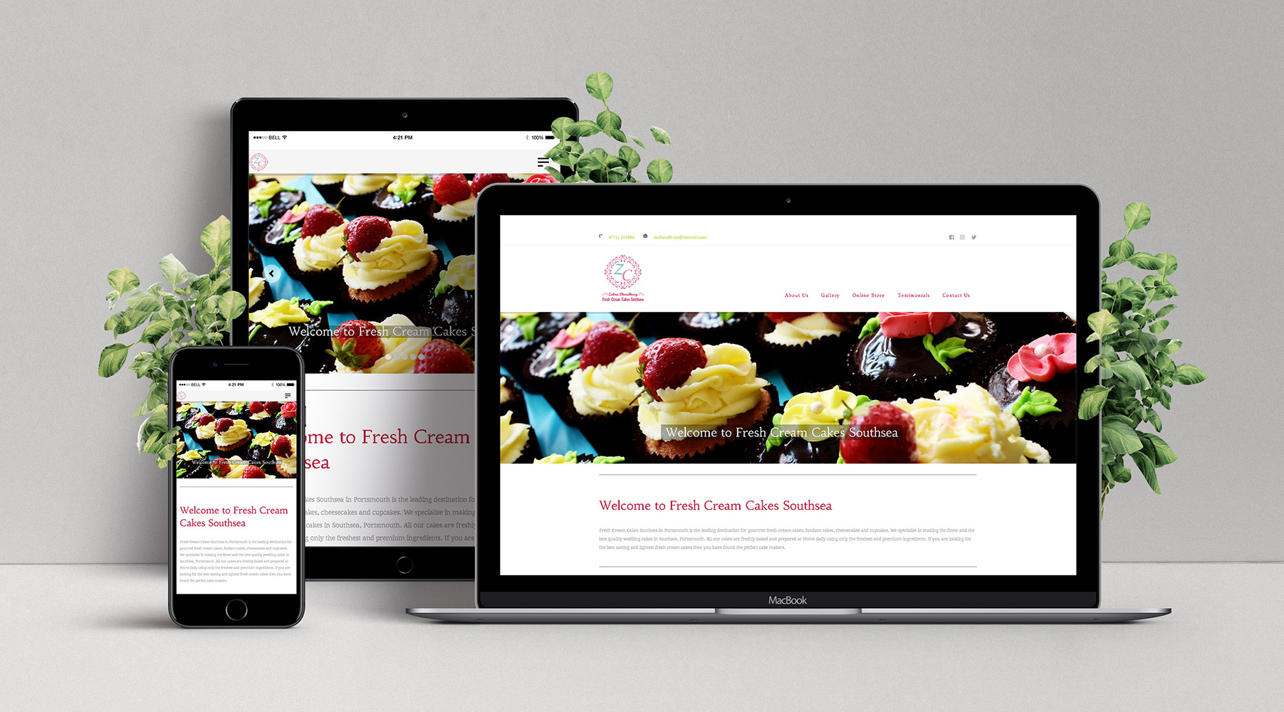 Fresh Cream Cakes Southsea: Responsive Web Design