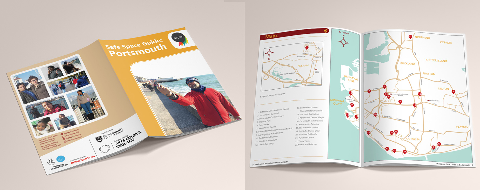 Safe Space Guide: Portsmouth - Booklet Design
