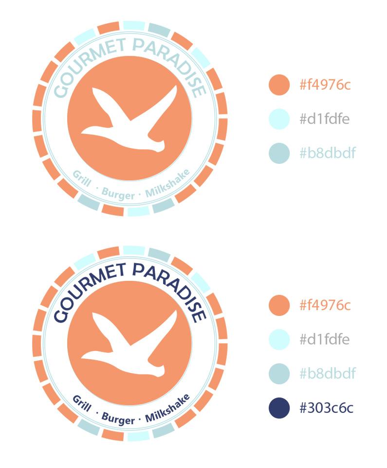 Gourmet Paradise -branding and logo design
